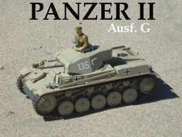 Panzer II on the sand by DingoPatagonico