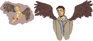 castiel by ashichams