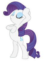 Rarity Drama Pose by LcPsycho