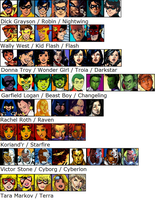 The New Teen Titans (plus Terra) by AdrenalineRush1996