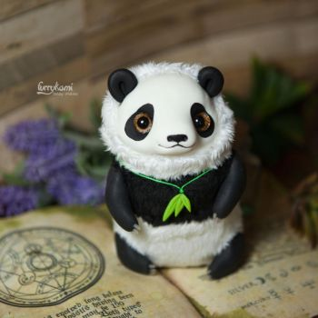 Panda art doll by Furrykami-creatures