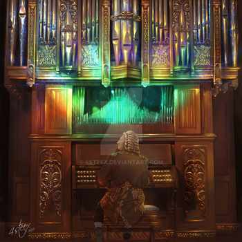 CD cover: 'Precision Bach' by 4steex