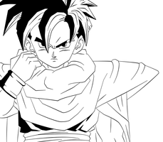 BAW: teen gohan by DrabounZ
