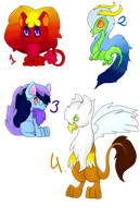 Adoptables by Clari-Zekrom