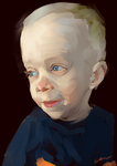 Portrait of young boy by Arrgee