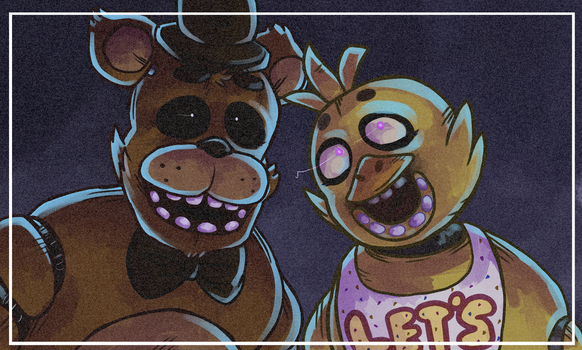 Five Nights at Freddy's- Freddy and Chica by DreamerMB