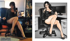 My office lady photo anime version by AsianAlison