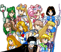 Senshi of the Opera and other by SailorPhantom
