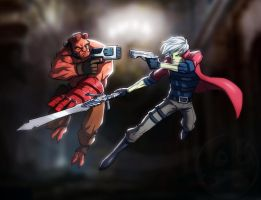 Hellboy VS Dante by TheRedVampx1
