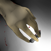 The blood on my hands covered the holes by FalteredHeart