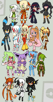 Pokemon Gijinkas by flaredrake20