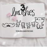 3 Brushes by Luunatico