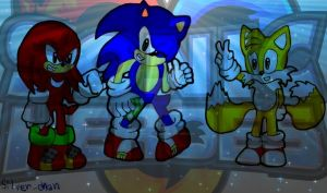 SONIC HEROES-Team Sonic by Silver-chan2000