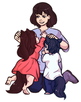 Wolf Children by quailtea