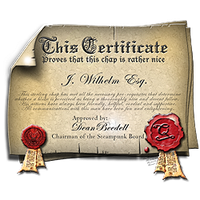 Steampunk Certificate Icon with Seals by yereverluvinuncleber
