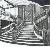Titanic Main Stair Case by Mitternacht