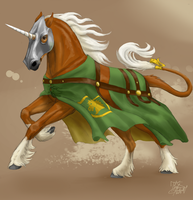 Haflinger unicorn by ThunderboltFire
