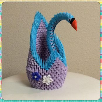 3d Origami Winter Swan by jchau