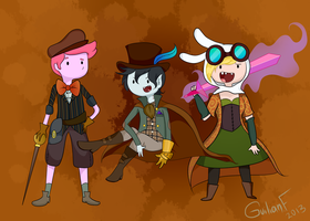 Adventure Time Steam Punk by Wingscanspeak