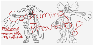 Costuming Preview: Who's that Pokemon by li-Fae