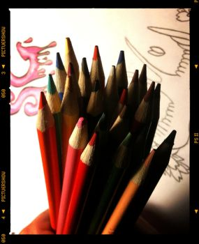 Colored Pencils by jFotography