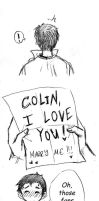 Colin and his fanmail - part 1 by Ta-moe