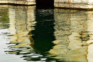 Loppia boatshed reflections 1 by wildplaces