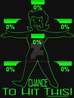 Fallout: 0% chance to hit this! Womens Shirts by Yjayr