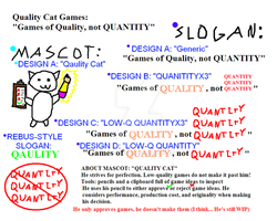 [concepts] Quality Cat Games - Mascot and Slogan by DarkGrievous7945