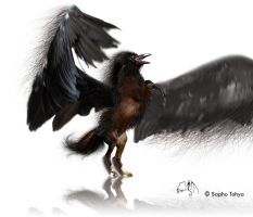 Black Hippogriff RavenGriffin by hippogriffon