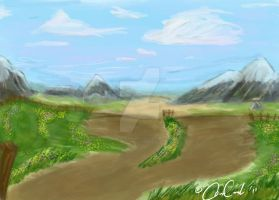 Landscape speed paint by Squall-Kaihane