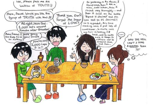 Breakfast with Team Gai by gejimayo