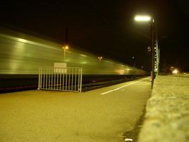 train at night by georgeblunt