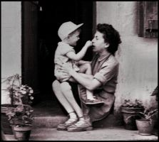 With my mother - 1954 by SUDOR