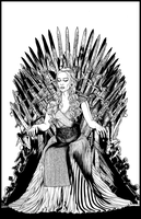 Mother Of Dragons Iron Throne by GothPunkDaddy