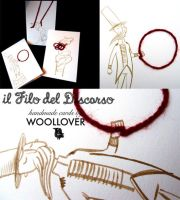 The lions tamer-card designed for WOOLLOVER by Davanyta