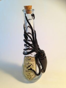 Squid Ink Bottle by KaijuClayCreations