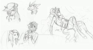 MLP Sketch Dump 2 by Earthsong9405