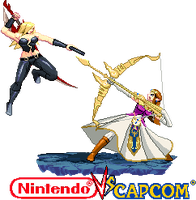 Trish vs Zelda Nintendo vs capcom by Riklaionel