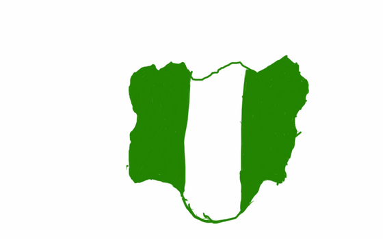 Nigeria flag map by UNPSTcommandermark