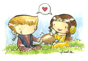 anakin and padme mini painting by katiecandraw