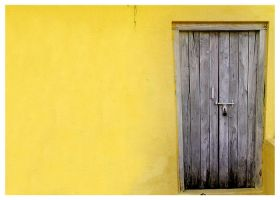 Yellow Wall by pegs