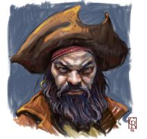 Pirate Self Portrait by grobles63