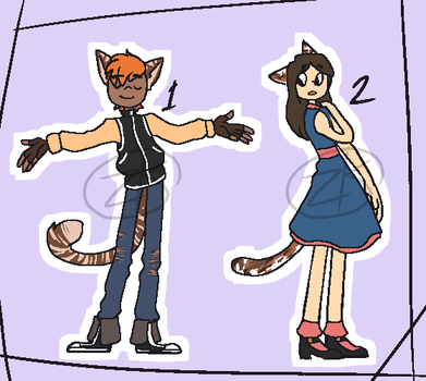 Neko People adopts [BOTH OPEN, PAYPAL ONLY] by zombie-kity