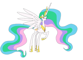 Princess Celestia by Poison-Joak
