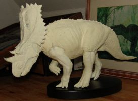 Chasmosaurus work in very slow by Gorgosaurus