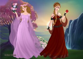 Persephone Before and After by LadyIlona1984