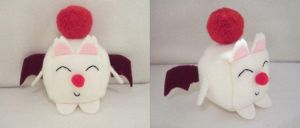Moogle Cube Plushie by Cube-lees