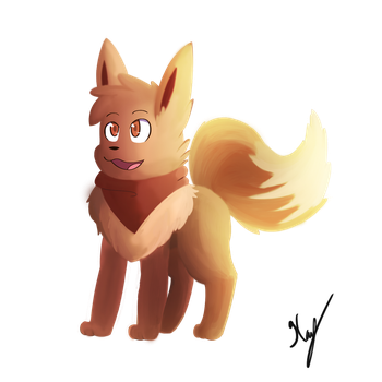 Toby the Eevee by Deathxael