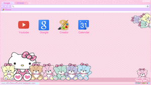 Hello Kitty Theme For Google Chrome by MinnieKawaiiTutos